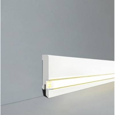 Licht Sockelleiste Lübeck - Echtholz weiß