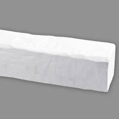 Wiesemann PU-Balken, aus hochfestem Polyurethan, 12 x 12 x 400 cm, Weiß