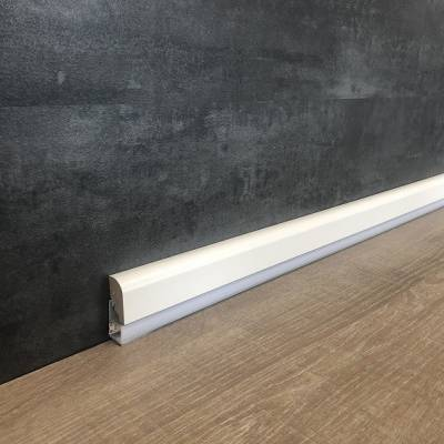 """Licht - Sockelleiste / Licht - Fußleiste """"Boves"""" 20 x 55 mm MDF weiß lackiert"""