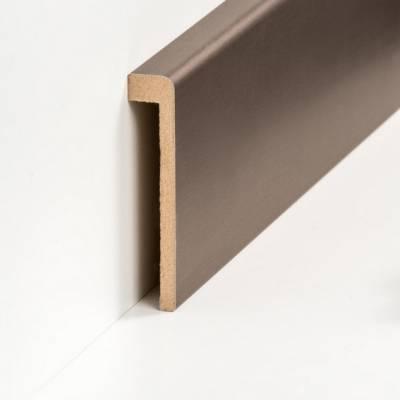 Abdeckleiste für Fliesensockel bis 85 mm (MDF foliert / 72.96.13.85.48) - Farbe: Bronze (Default)xfgjsrt