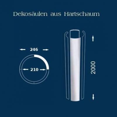 """Säulenschaft / Säulenprofil """"Wiesemann SP9 glatt"""" - unbeschichtet"""