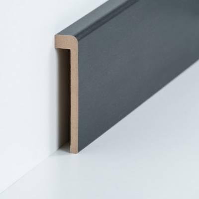 Abdeckleiste für Fliesensockel bis 85 mm (MDF foliert / 72.96.13.85.45) - Farbe: Stahl dunkel 2z534we