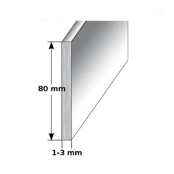 H/öhe 80 mm FUCHS Sockelleiste Au/ßenecke Aluminium Eloxiert silber matt