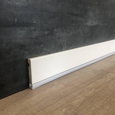 """Licht - Sockelleiste / Licht - Fußleiste """"Masone"""" 15 x 95 mm weiß foliert"""
