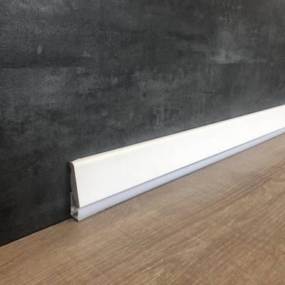 """Licht - Sockelleiste / Licht - Fußleiste """"Busca"""" 19 x 73 mm Folienummantelt weiß"""
