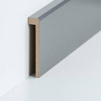 Abdeckleiste für Fliesensockel bis 85 mm (MDF foliert / 72.96.13.85.33) - Farbe: Edelstahl (Default)rez54ergt35t4
