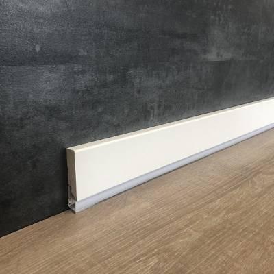 """Licht - Sockelleiste / Licht - Fußleiste Sockelleiste """"Predosa"""" 19 x 85 mm weiß lackiert"""