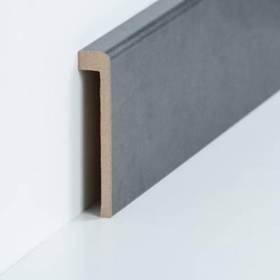 Abdeckleiste für Fliesensockel bis 85 mm (MDF foliert / 72.96.13.85.46) - Farbe: Stahl natur (Default2342)