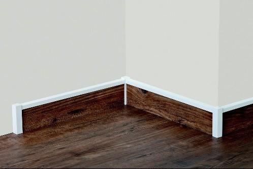 universal holzecken 22 x 22 x 118 innen au en f r sockelleisten buche massiv wei lackiert. Black Bedroom Furniture Sets. Home Design Ideas