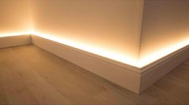 LED Licht-Fußbodenleistenrahmen aus Aluminium für NMC Fußbodenleisten