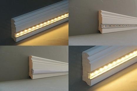 Licht Sockelleisten | Lichtleisten | LEDs | LED Beleuchtung ...