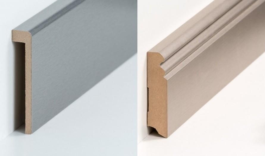 Metallic Metall Optik Leisten Sockelleisten Fussleisten