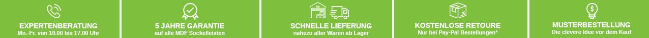 Ihre Vorteile auf profisockelleisten.de